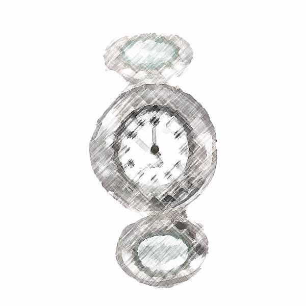 שעונים- זכוכית רומית